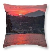 Summer Sunset Over Yukon Harbor.4 Throw Pillow