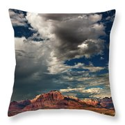 Summer Thunderstorm Clouds Form Over West Temple Zion National Park Utah Throw Pillow