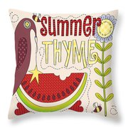 Summer Thyme-jp2832 Throw Pillow