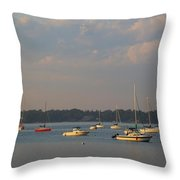 Summer Time At Little Neck Bay Throw Pillow