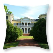 Summer Time At Sweet Briar House Throw Pillow