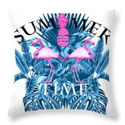 Summer Time Tropical  Throw Pillow