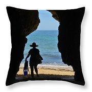 Summer Tourist Throw Pillow