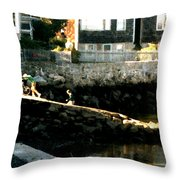 Summer Vacation Throw Pillow