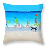 Summer Vacation Time Throw Pillow