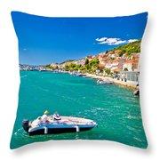 Summer View Of Tisno Coast Throw Pillow