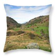 Summer, Watendlath Valley, Lake District National Park, Cumbria Throw Pillow