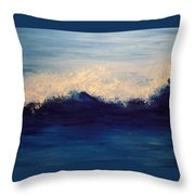 Summer Wave Throw Pillow