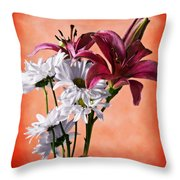 Summer Wild Flowers  Throw Pillow