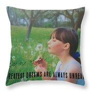 Summer Wish Quote Throw Pillow
