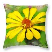 Summer Zinnia  Throw Pillow