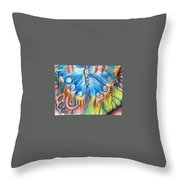 Summerfly Throw Pillow
