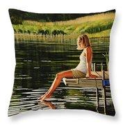 Summers Beauty Throw Pillow