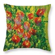 Summer's Bloom Throw Pillow