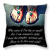 Summer's Child Throw Pillow