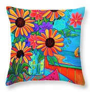 Summers Dream Throw Pillow