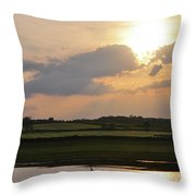 Summers Evening In North Yorkshire Throw Pillow