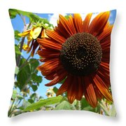 Summers Here Throw Pillow