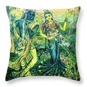 Summer's Joyous Meeting Throw Pillow