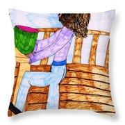 Summers Lunch Throw Pillow by Elinor Rakowski