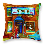 Summers With Mom At Fairmount Throw Pillow