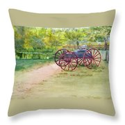 Summertime At The Barn Throw Pillow