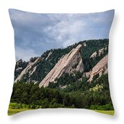 Summertime At The Flatirons Throw Pillow