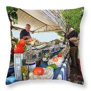 Summertime Celebration Throw Pillow