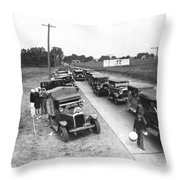 Summertime Country Traffic Jam Throw Pillow
