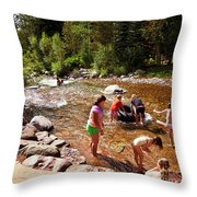 Summertime Fun Throw Pillow
