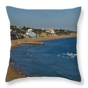 Summertime In Albufeira Throw Pillow