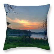 Summertime In Northern Michigan Throw Pillow