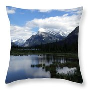 Summertime In Vermillion Lakes Throw Pillow