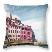 Summertime Town Throw Pillow