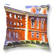 Summery Afternoon Sunshine At The Courthouse Throw Pillow