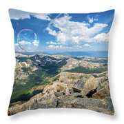 Summit Bubbles - Yale Throw Pillow