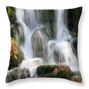 Summit Creek Waterfalls Throw Pillow