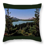 Tagish Lake - Yukon Throw Pillow