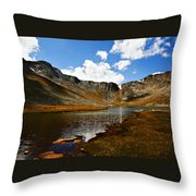 Summit Lake Colorado Throw Pillow