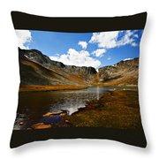 Summit Lake Colorado Throw Pillow