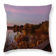 Summit Lake Magic Hour  Throw Pillow