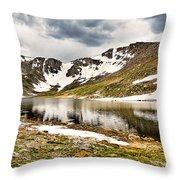 Summit Lake Study 3 Throw Pillow
