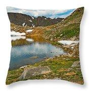 Summit Lake Study 5 Throw Pillow