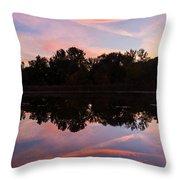 Summit Lake Sunset I  Throw Pillow