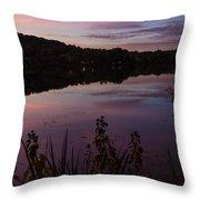 Summit Lake Sunset II  Throw Pillow