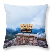 Summit Of Mount Evans Throw Pillow