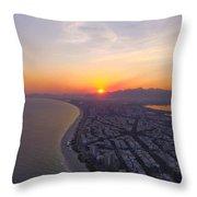 Sumset Rio De Janeiro Throw Pillow