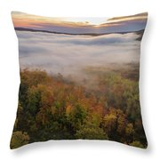 Sun And Fog Throw Pillow