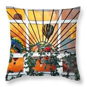 Sun And Hot Air Throw Pillow