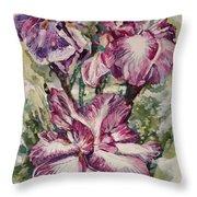 Sun And Iris Throw Pillow